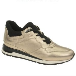 Geox Respira Champagne Gold Sneakers